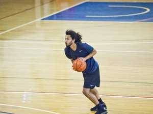Daniel Sims. Trials for Mountaineers 2019 basketball
