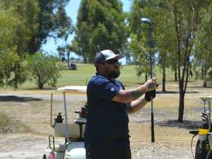 Nathan Landers at the Chinchilla Golf Club.