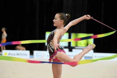 Dekoda Edwards from Sunshine Coast Rhythmic Gymnastics (Caloundra).