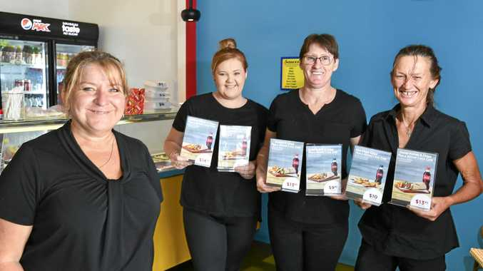 Manager Lea-anne Williams and Hero Kebabs employees Kaitlin Walker, Amber Dooley and Julie Tyson.