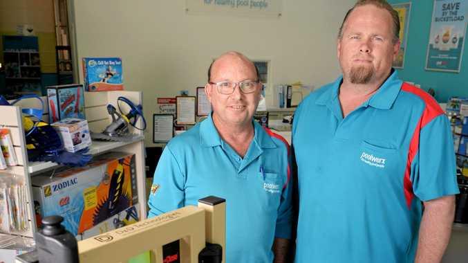 Chris Blunt and Dan Tobin from Poolwerx Springfield Lakes.