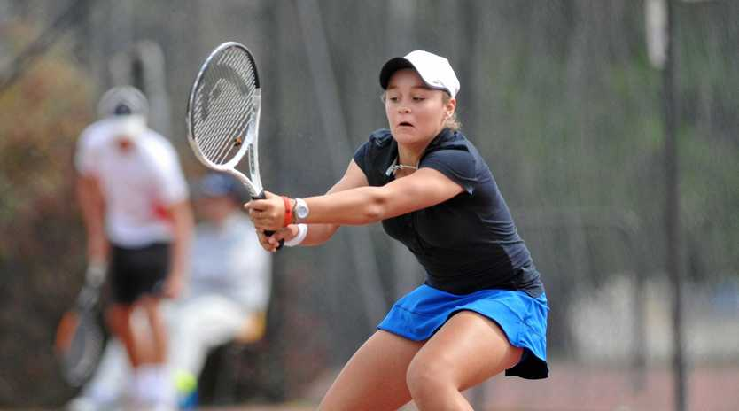 IT'S ONLY THE BEGINNING: Ashleigh Barty on her way to win the BMD Gladstone Open Hardcourt Championships back in 2010.