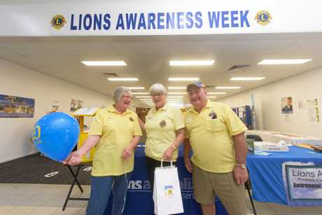 Lions Judy Mills, Deyann McDonnell and Peter Bennett are out to raise the awareness of Lions clubs in Yamba Fair.