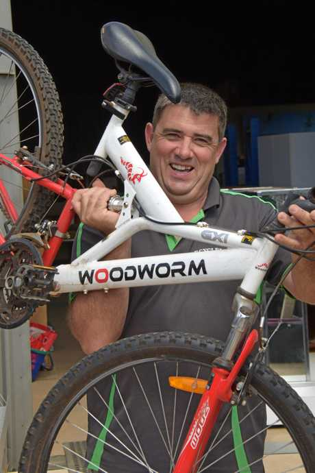 GOOD DEED: Jason Clark from Recyclelinks in Kingaroy donated a bike to a man with down syndrome whose bike was stolen.