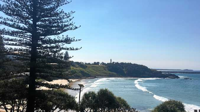 PEACEFUL: Yamba's Main Beach is one of the attractions that competes with Byron Bay for visitor credit.