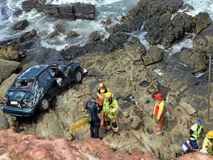 Deliberately driving off cliff costs woman $1000