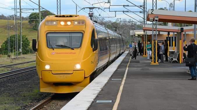 Tilt Train comes into Gympie North station. Photo Craig Warhurst / The Gympie Times