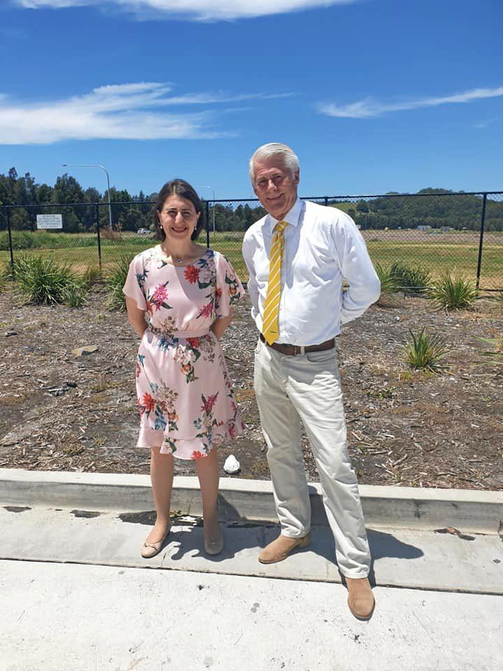 NSW Premier Gladys Berejiklian and Tweed MP Geoff Provest.