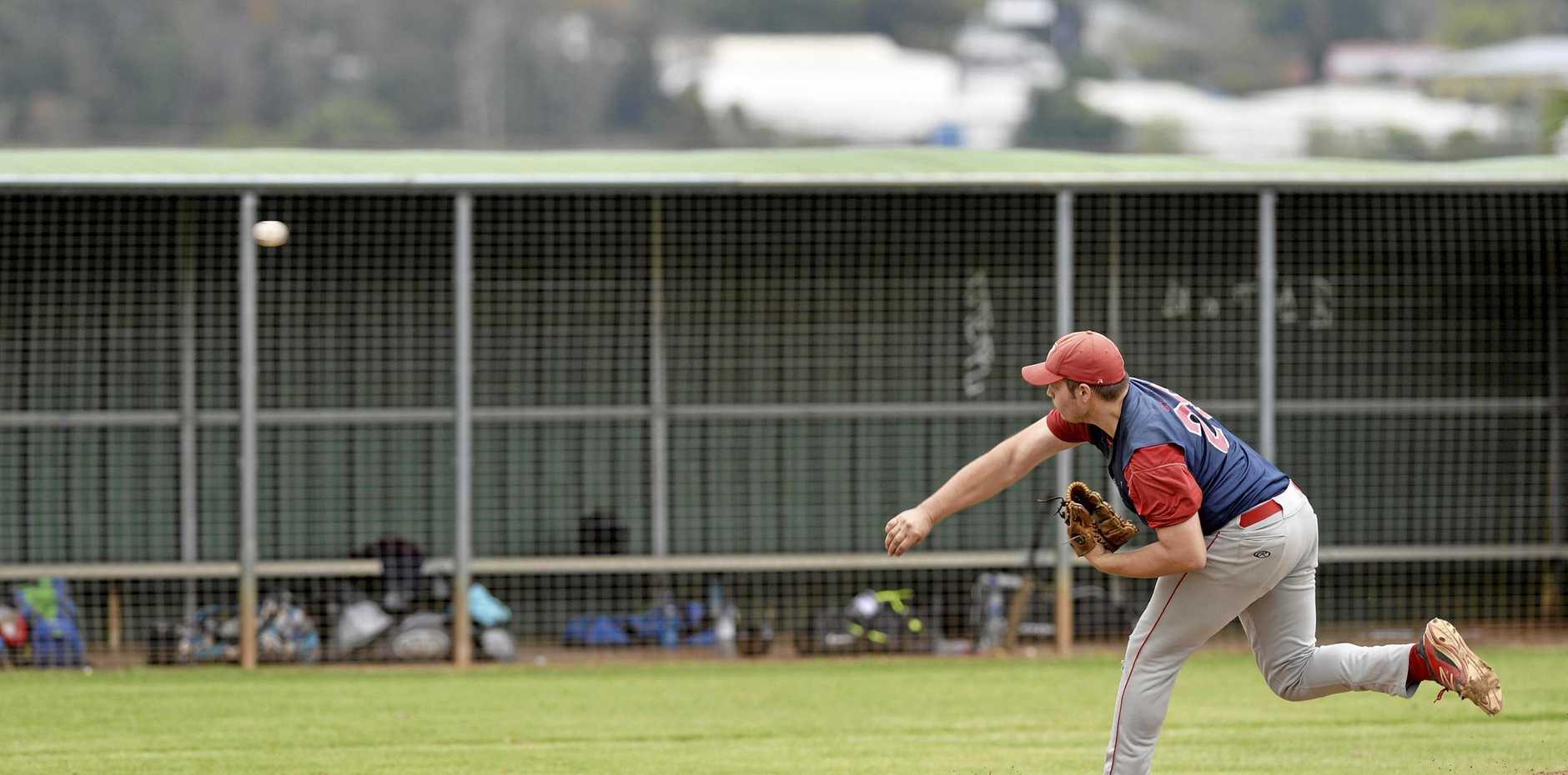 Rangers pitcher Sam McNiece.