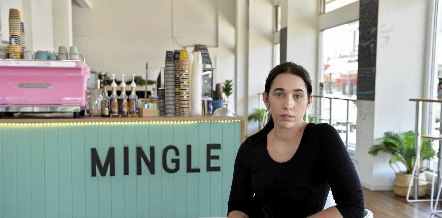Mingle manager Bridget Spark. The city cafe is reducing opening hours due to a decline in customers.
