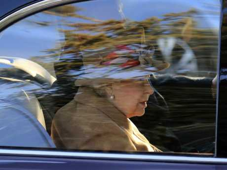 Queen Elizabeth attended church alone over the weekend with her husband nowhere to be seen. Picture: AP