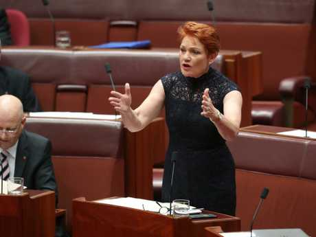 Pauline Hanson says One Nation will preference Clive Palmer's party last, crippling his bid to re-enter politics. Picture Kym Smith