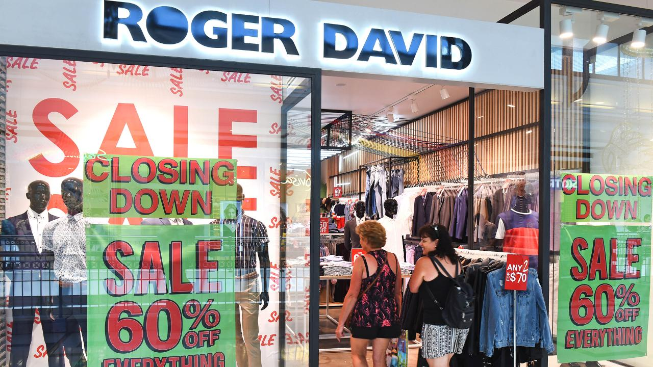 Roger David was one of many retailers to collapse in 2018. Picture: John Gass