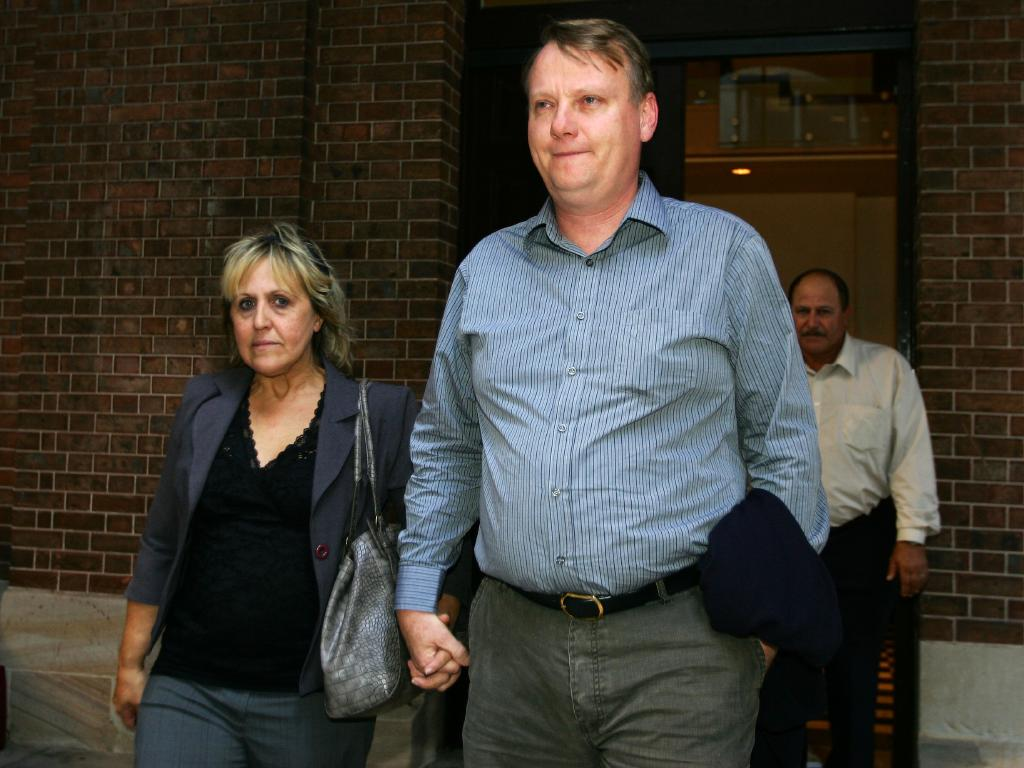 Tania's parents Mandy and Chris Burgess leave the King Street Supreme Court in Sydney after her killer was found guilty of murder.