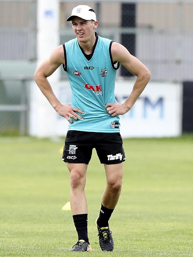 Port Adelaide's top draft pick, Connor Rozee. Picture: Sarah Reed