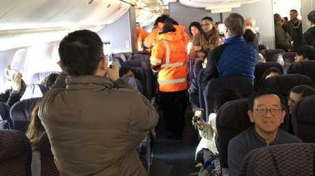 Passengers inside the aircraft were forced to endure freezing temperatures.