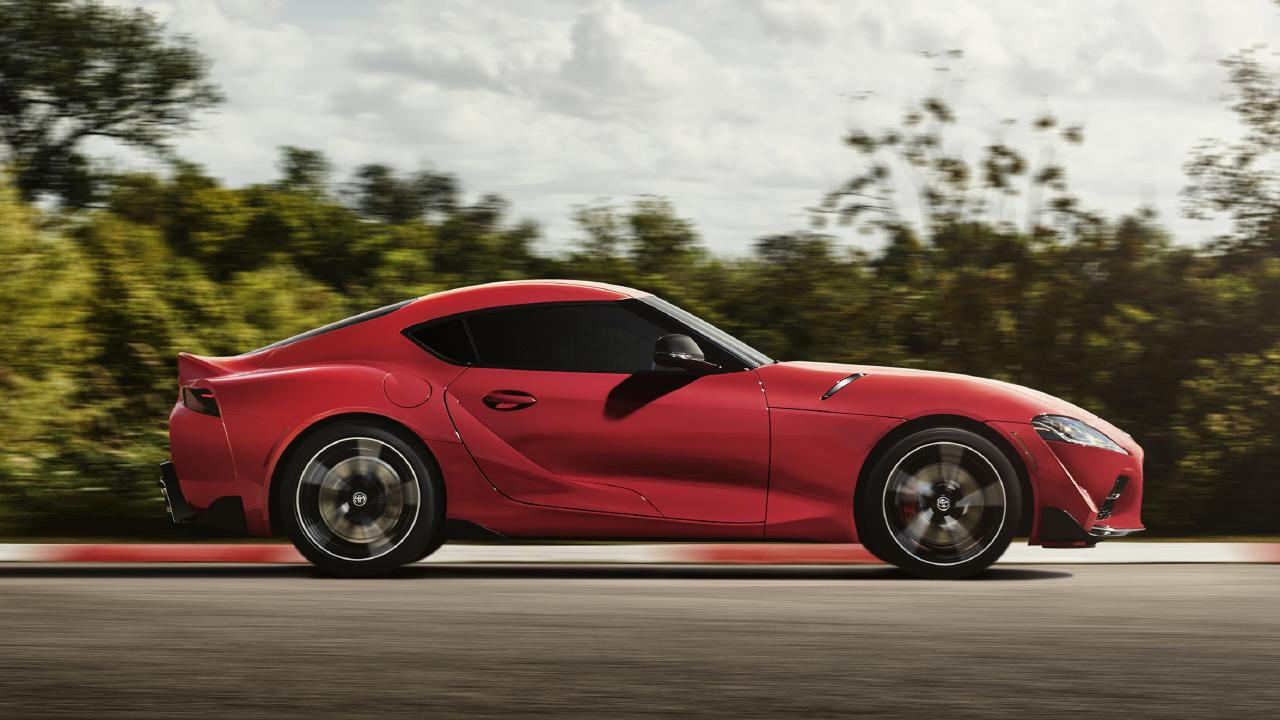 The Supra shares its underpinnings with the BMW Z4.