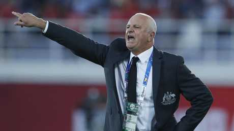 Australian coach Graham Arnold has no issues sharing the same hotel as Uzbekistan. Picture: AP
