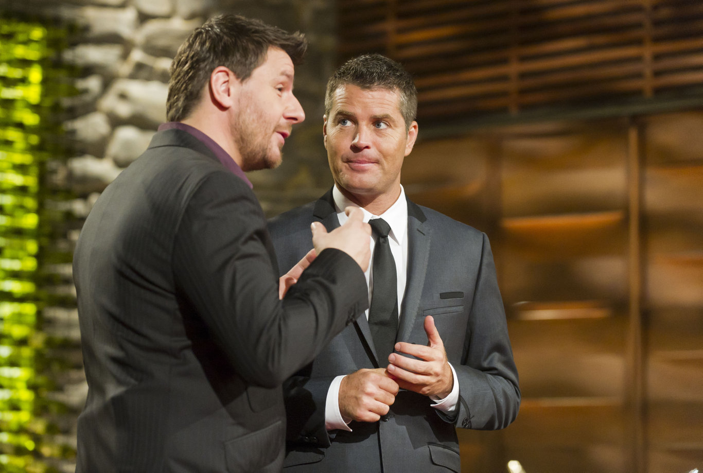 My Kitchen Rules judges Manu Feildel, left, and Pete Evans.