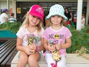 Isla Mezzen, 5, and her sister Freya, 3, turned their