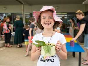 Alexis Bronkhorst, 7, is happy with her repurposed