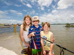 Siblings Amy Tetley, 11, Allan, 9, and Briana, 7