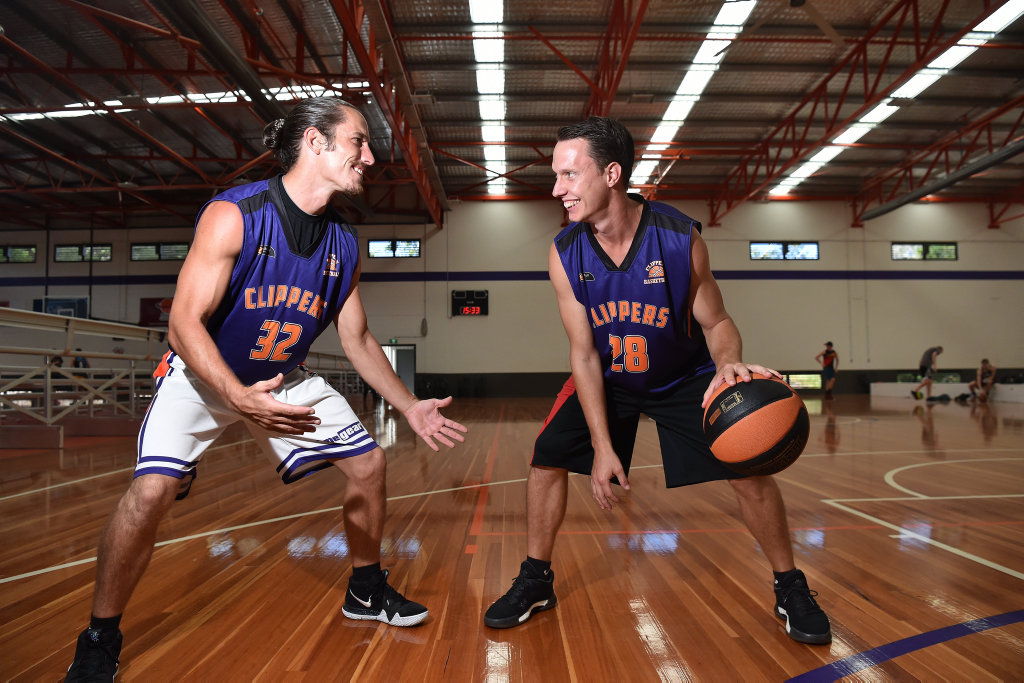 Image for sale: Zeke and Zane Meehl ready for the new basketball season with the Sunshine Coast Phoenix.