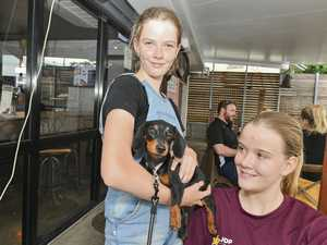 Alyssa,10, with Asha and Sarah King, 14.RSPCA Paws