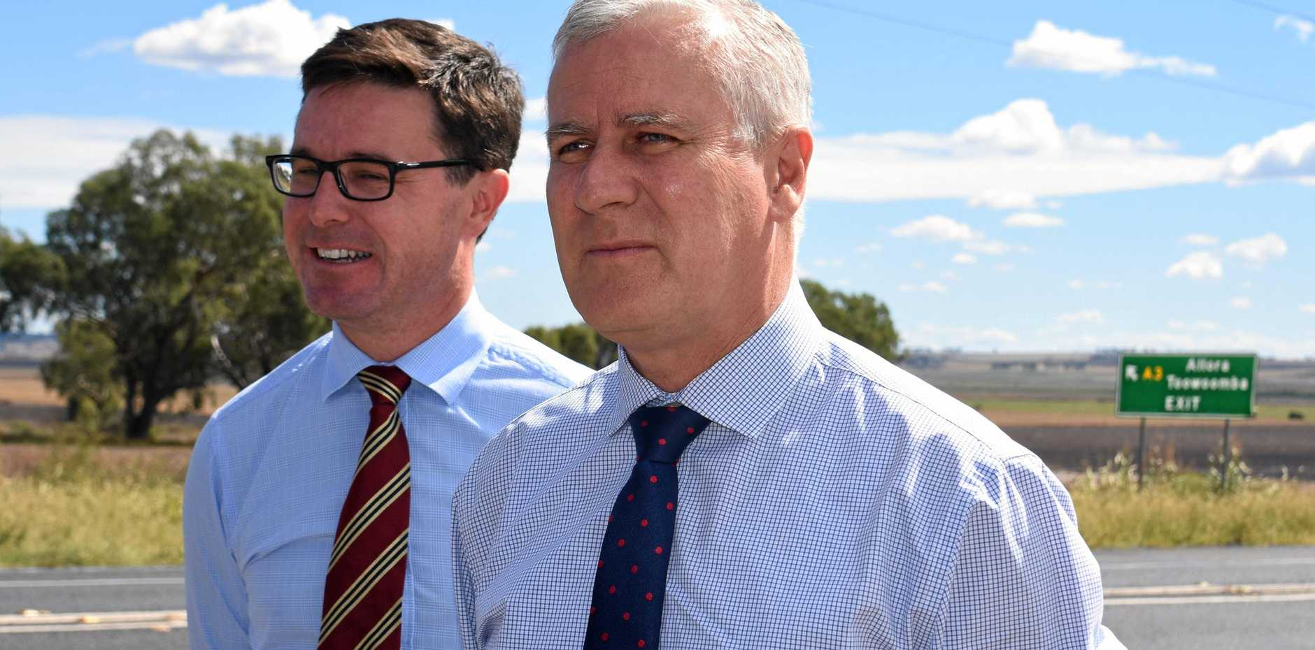 RED TAPE: Agriculture Minister David Littleproud (left) and Deputy Prime Minister Michael McCormack move to make life easier for the farmers.