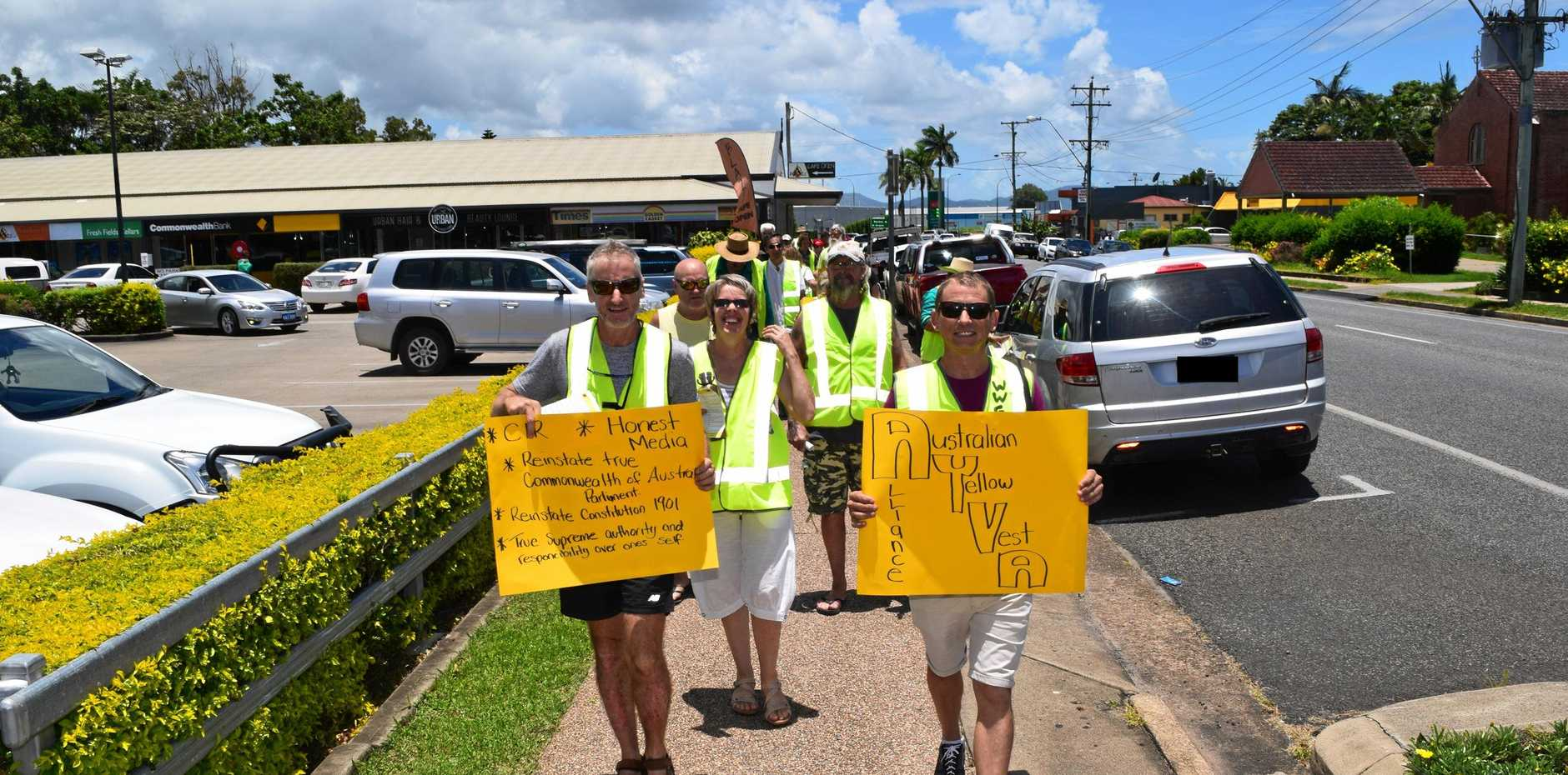 PROTEST: Yellow Vest protests sweeping across Europe have inspired Whitsunday residents to invoke change.