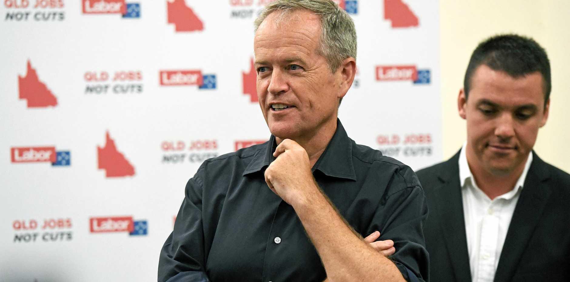 FOCUS ON BUNDY: Labor leader Bill Shorten at Bundaberg Hospital yesterday.
