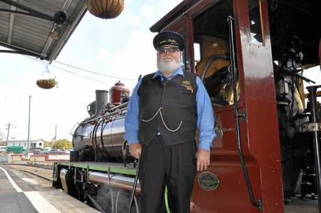 Station master Bob Buckley at the Mary Valley Rattler in Gympie.