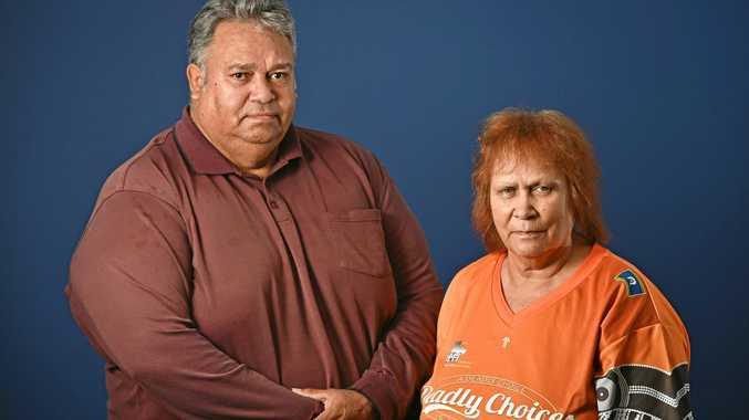 MAKING A STAND: Indigenous Deebing Creek descendants Roberta Graham and Kevin Anderson.
