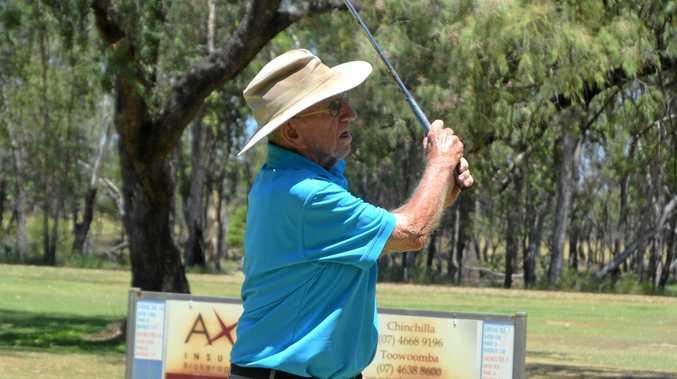 GAME FOR LIFE: Bill Hughes of Tara at the Chinchilla Golf Club.