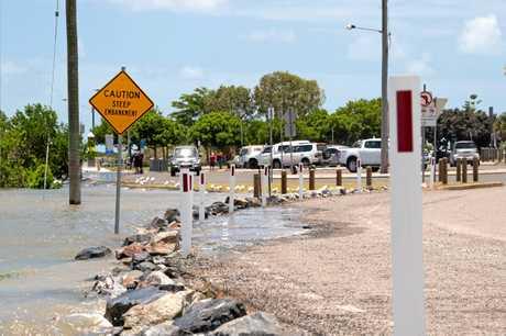 Mackay's high tide peaked at 6.52 metres at 11.43am today.