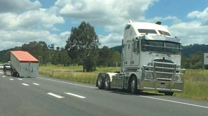 WATCH: Truck loses trailer on deadly Bruce Highway stretch
