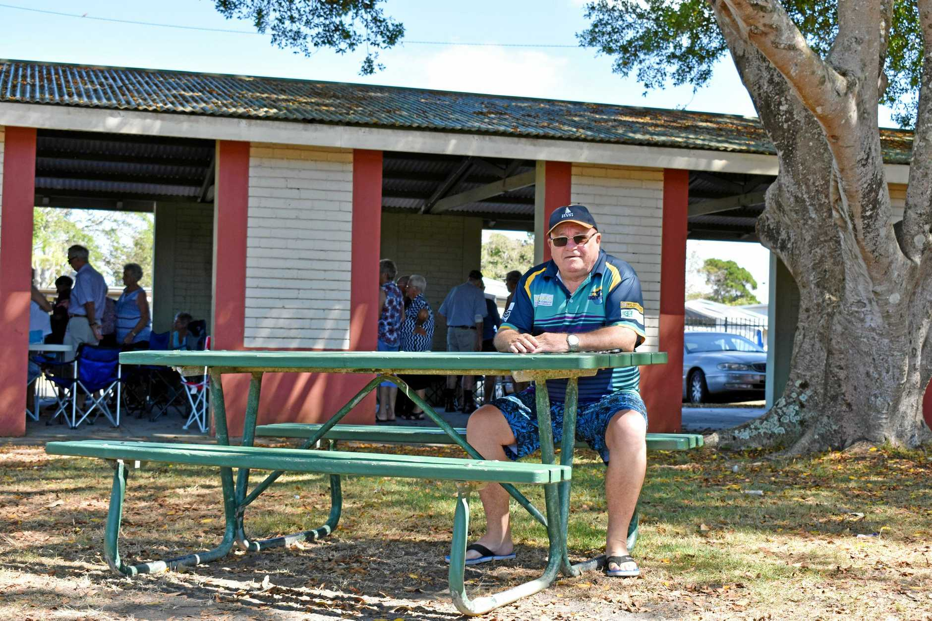 FAMILY GATHERINGS: Resident Gary McDonald is not happy about the demolition of the gazebo at Evans Head.