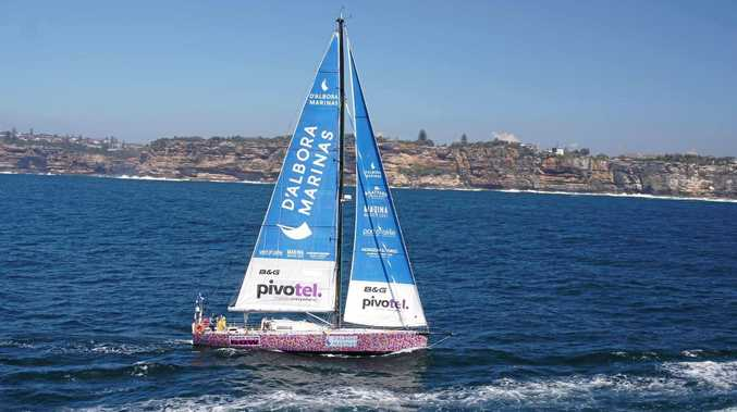 Lisa Blair left Sydney in October at the start of her record-breaking circumnavigation of Australia in 58 days.