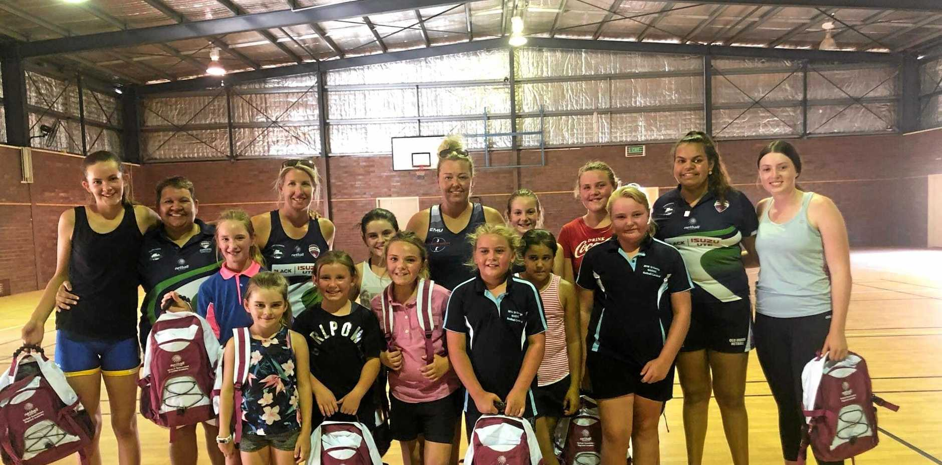 FUTURE STARS: The Darling Downs Region Country netball tour came to Charleville last week.