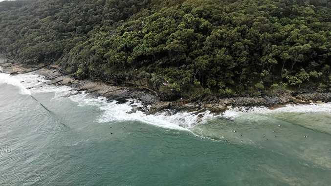 A teenager is lucky to be alive after rescued when jumping off rocks at Dolphin Point this afternoon.