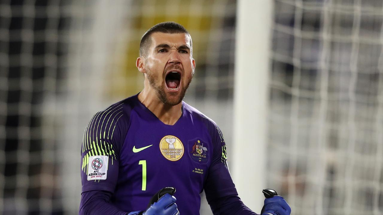 Socceroos goalkeeper Mat Ryan helped Australia through to the Asian Cup quarter-finals.