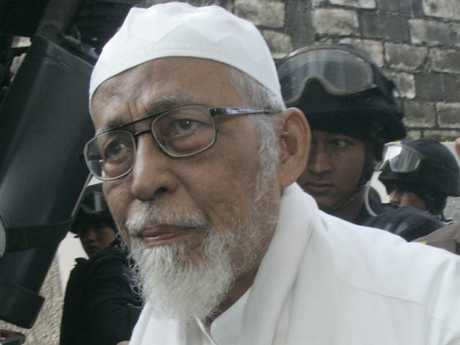 Abu Bakar Bashir had previously been considered ineligible for parole because of his refusal to renounce radical beliefs. Picture: AP Photo/Irwin Fedriansyah