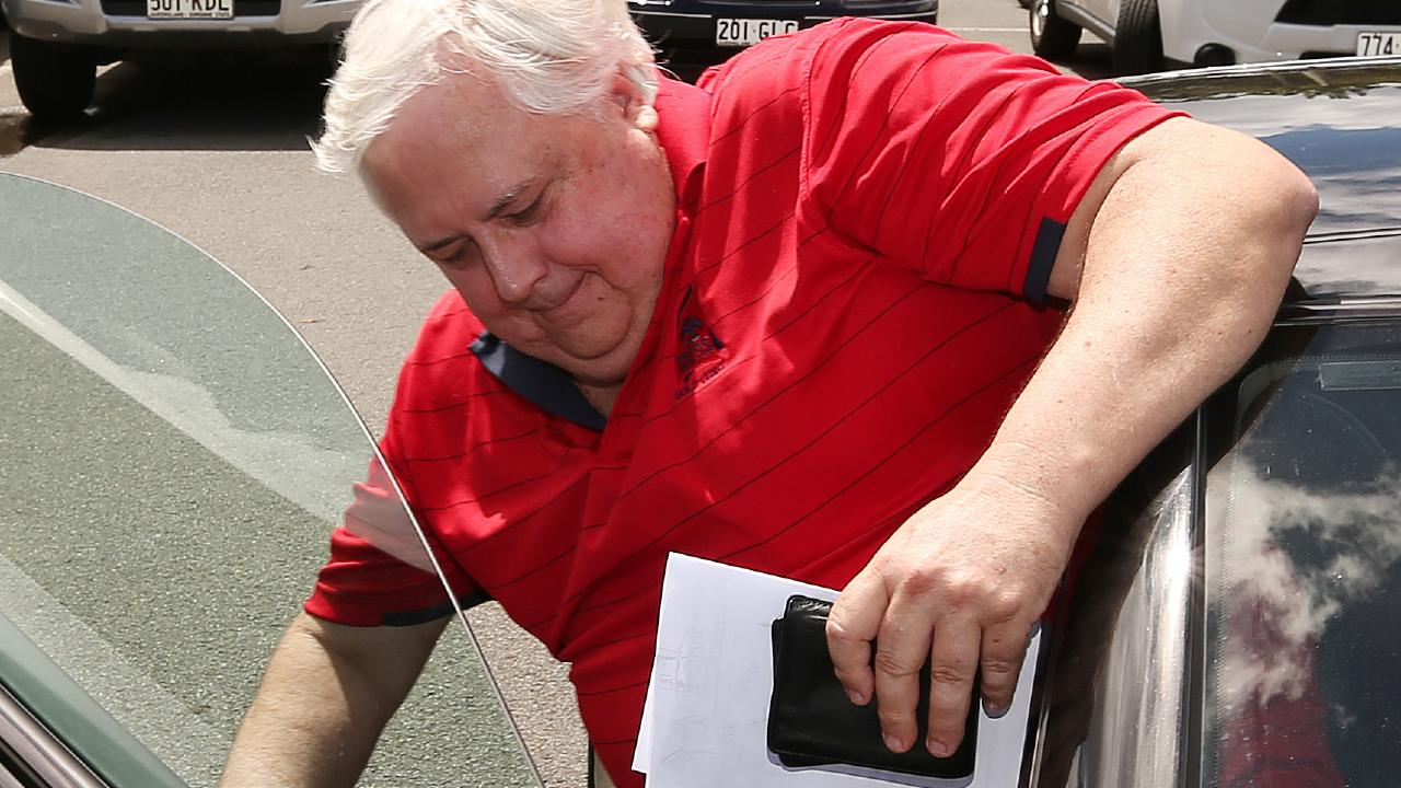 Clive Palmer's history of traffic infringements has been revealed. File picture