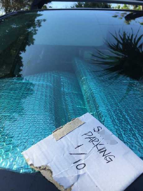 The woman was shocked to find the rude note. Picture: Brunswick Heads Community Page