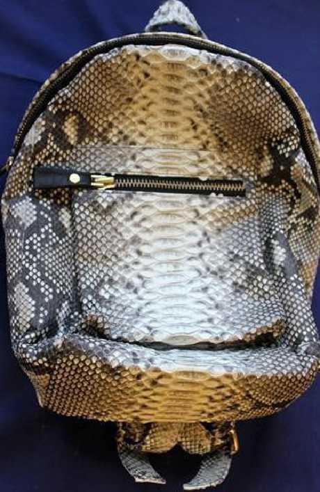 She sold snakeskin bags on her website SS Python.