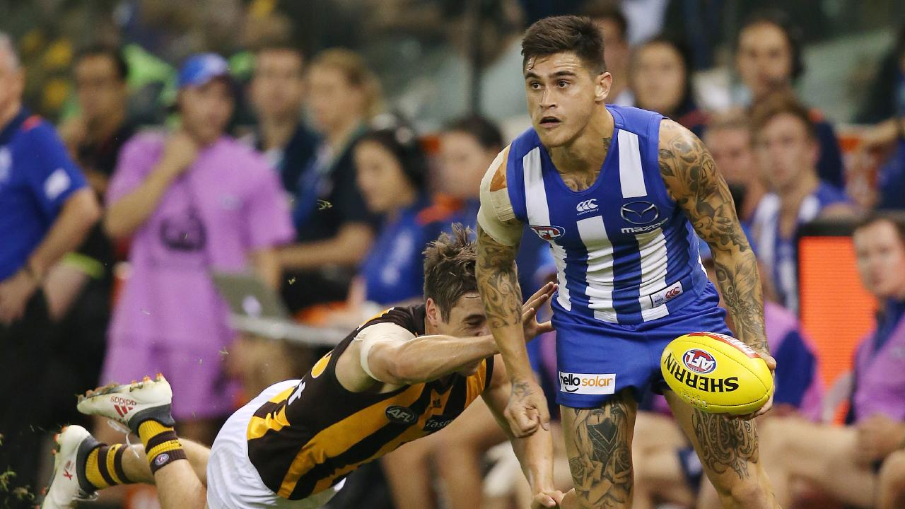 North Melbourne footballer Marley Williams has been fined after a drunken off-season nightclub fracas. Picture: Michael Klein