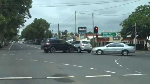 A crash near Sizzlers in Toowoomba has lead to a debate on road rules.