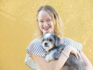 Jemma Eather with dog Molly, who she saved from being