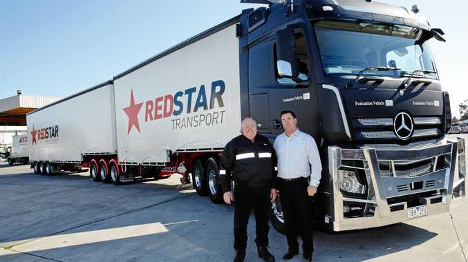 BEFORE THE FALL: Redstar driver Stephen Monkhouse (l) with boss Chris Pearce.