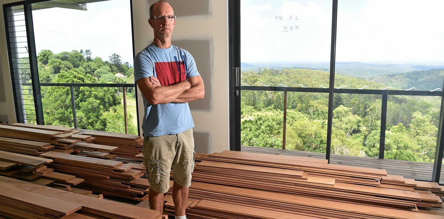Greg Thamm is angry the builder of his house at Bald Knob has gone into liquidation.